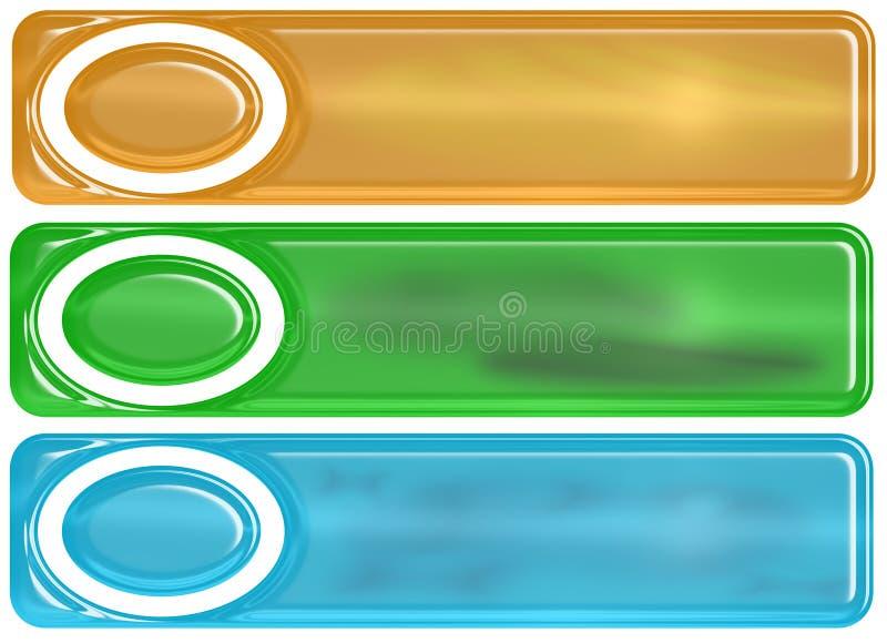 Bandeiras Glassy ilustração royalty free