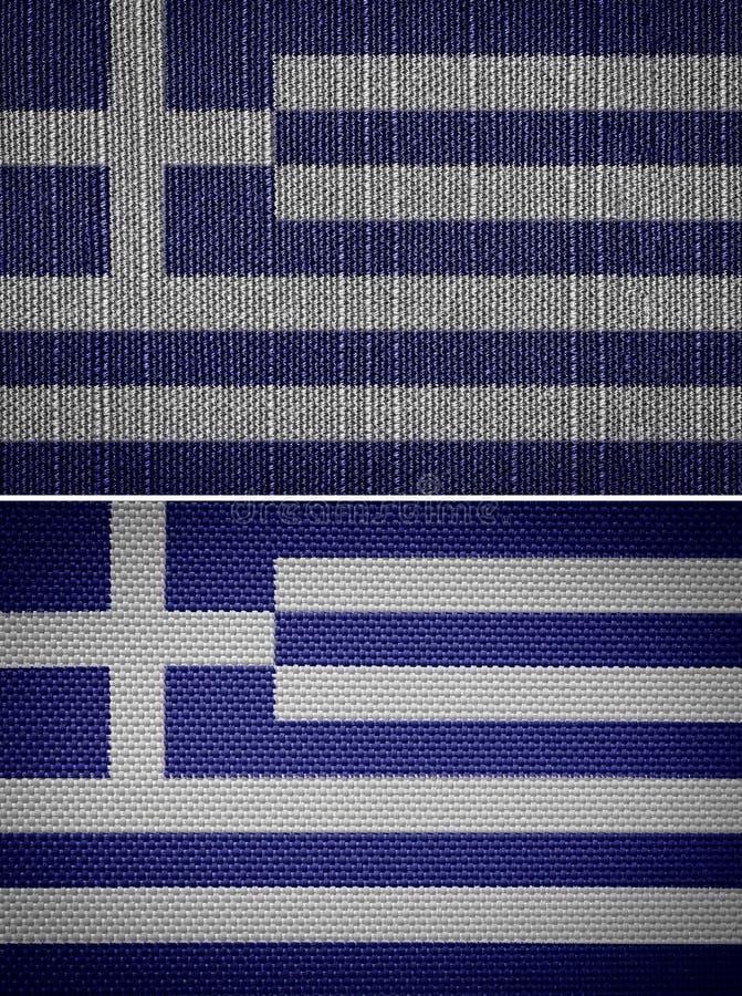 Bandeiras gregas da tela ilustração royalty free
