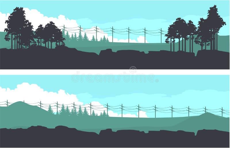 Bandeiras horizontais da natureza ilustração royalty free