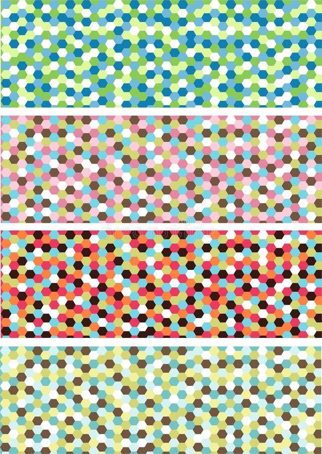 Bandeiras horizontais do mosaico ilustração royalty free