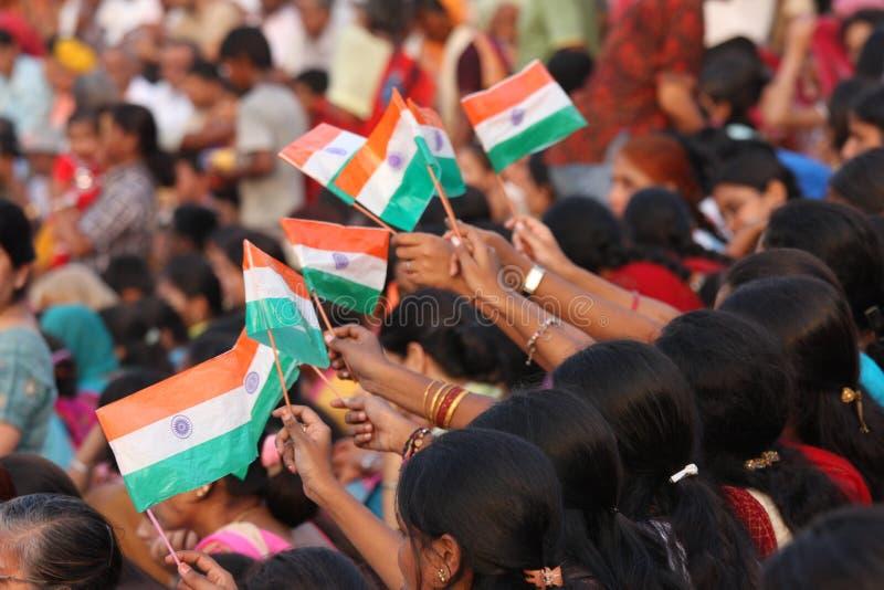 Bandeiras indianas fotografia de stock royalty free