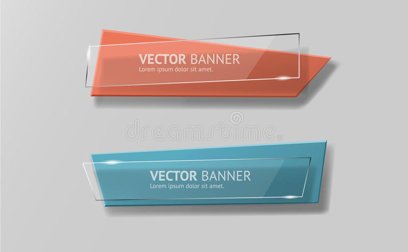 Bandeiras infographic do origâmi do vetor ajustadas ilustração stock