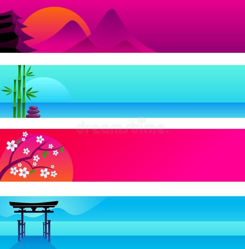 Bandeiras japonesas ilustração royalty free