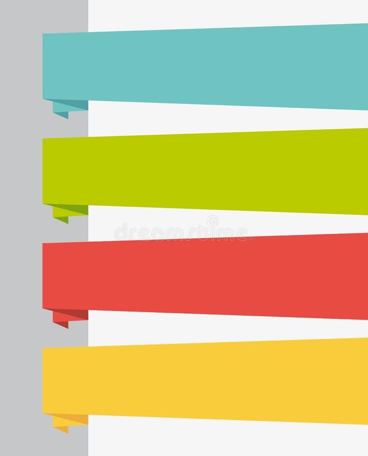 Bandeiras lisas do título do projeto UI ajustadas. ilustração royalty free