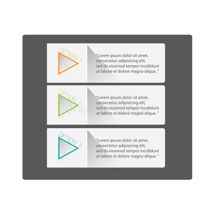 Bandeiras lisas na moda modernas do projeto de UI ilustração do vetor