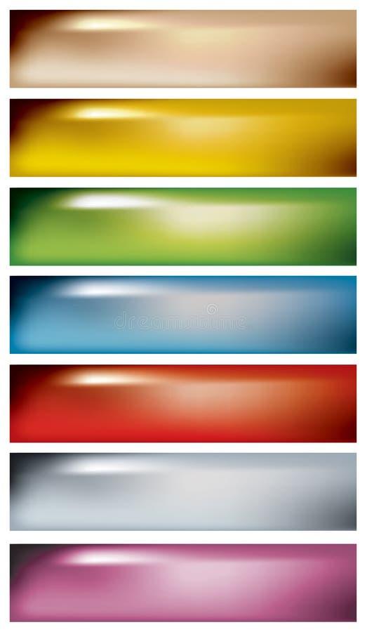 Bandeiras macias da cor ilustração do vetor
