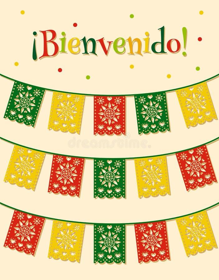 Bandeiras mexicanas ilustração royalty free