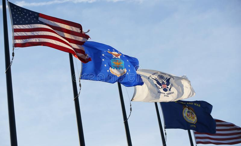 Bandeiras militares do Estados Unidos imagem de stock royalty free