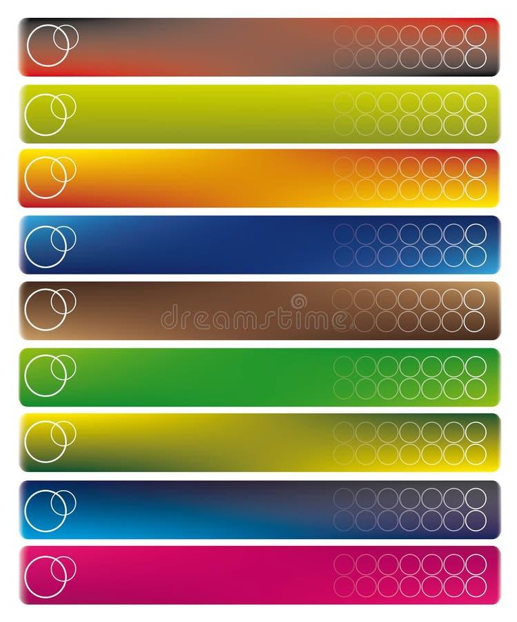 Bandeiras modernas ilustração stock
