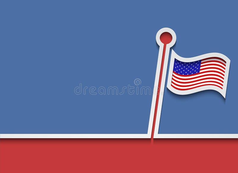 Bandeiras modernas do Memorial Day do vetor ilustração royalty free