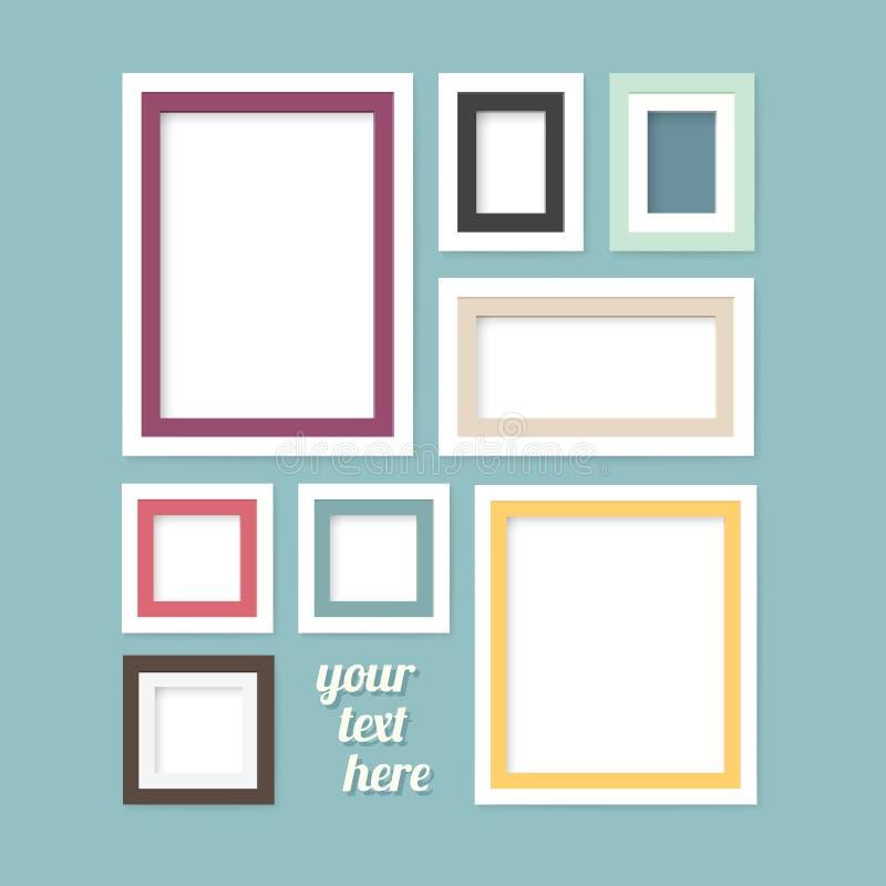 Bandeiras modernas do projeto do quadro da imagem ajustadas ilustração stock