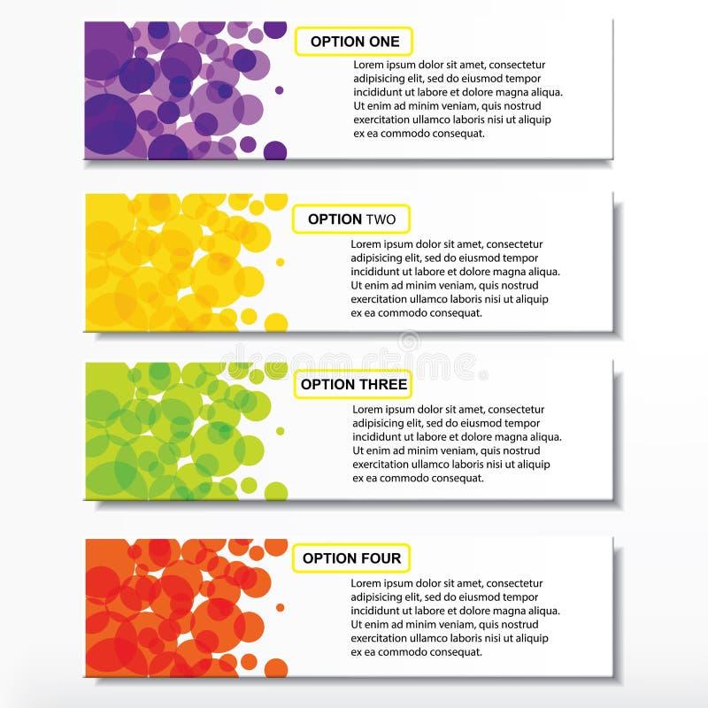 Bandeiras molde do número do negócio do projeto moderno ou disposição do Web site Informação-gráficos Vetor ilustração do vetor