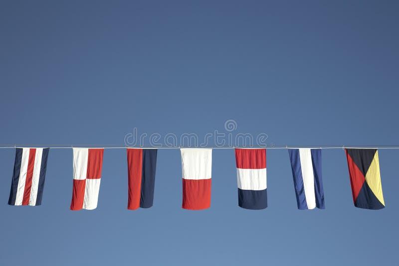 Bandeiras náuticas imagem de stock