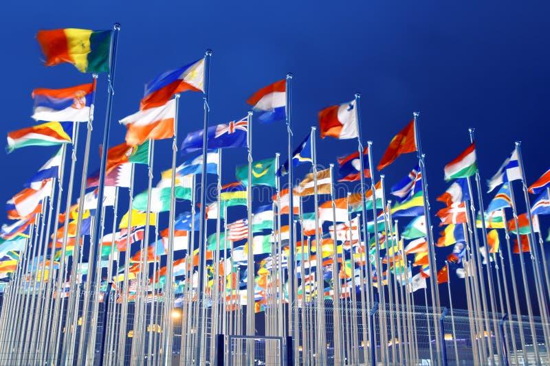 Bandeiras nacionais imagens de stock royalty free