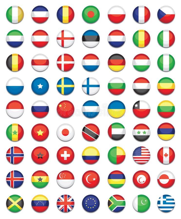 Bandeiras nacionais ilustração stock