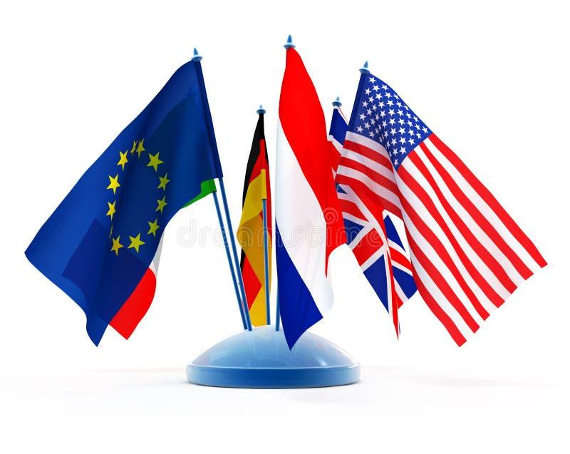 Bandeiras nacionais ilustração do vetor
