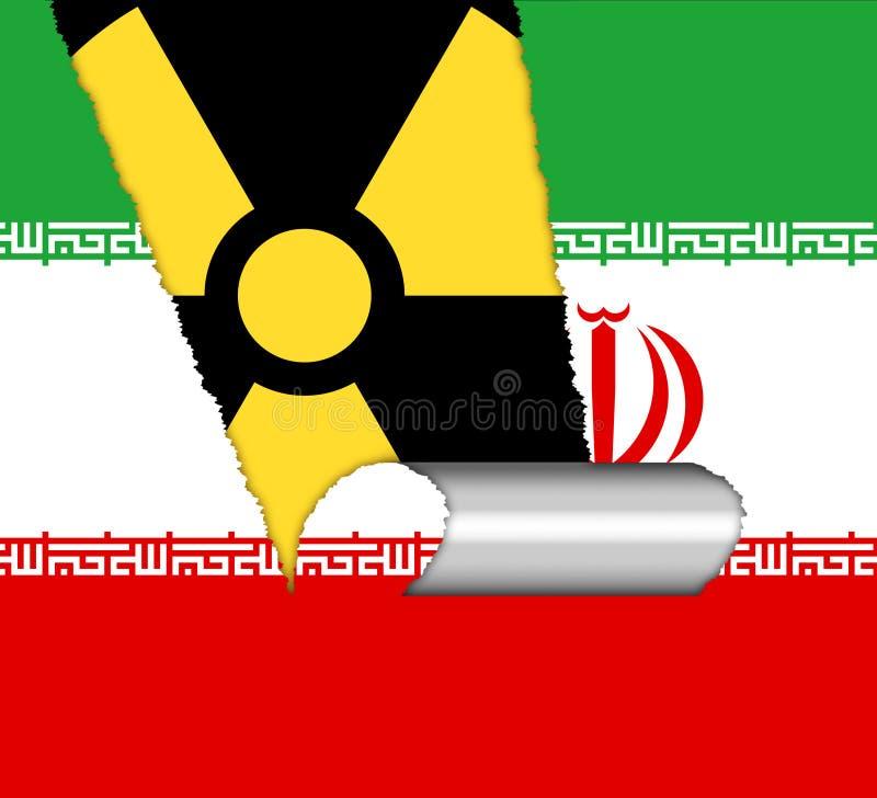 Bandeiras nucleares do negócio de Irã - negociação ou negociações com EUA - 2d ilustração ilustração royalty free