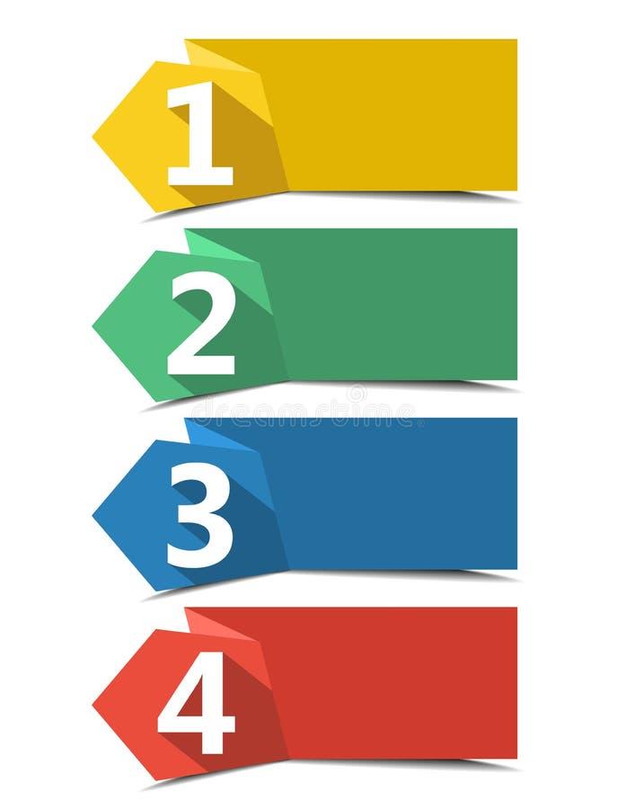 bandeiras numeradas ilustração royalty free