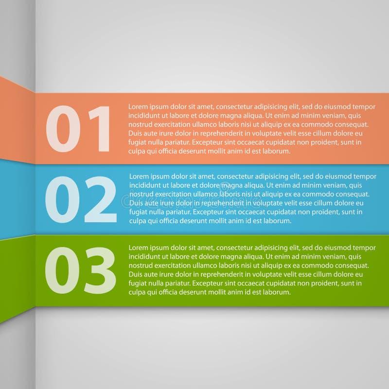 Bandeiras numeradas molde do projeto. Illustrat do vetor ilustração royalty free