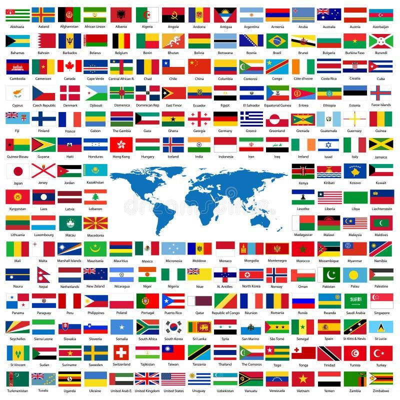 Bandeiras oficiais do mundo ilustração royalty free