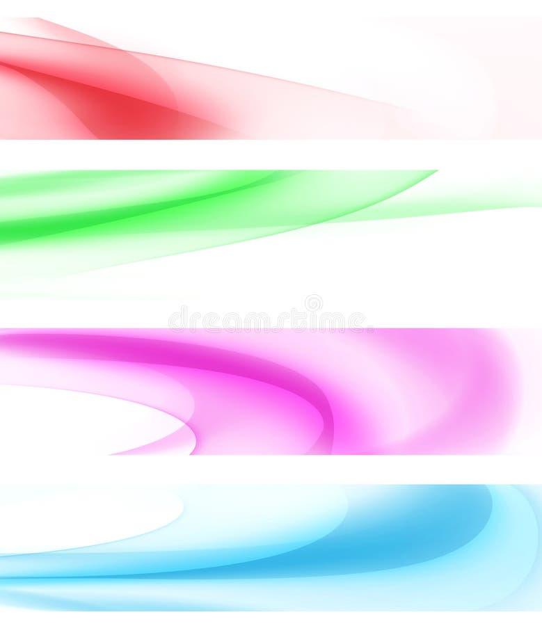 Bandeiras onduladas coloridas ilustração stock