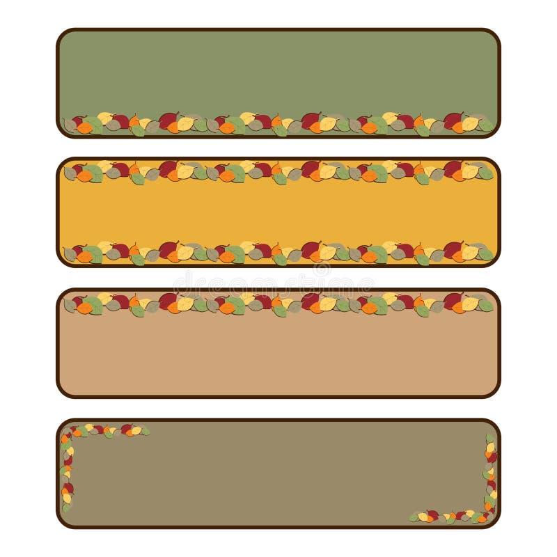 Bandeiras outonais ilustração royalty free