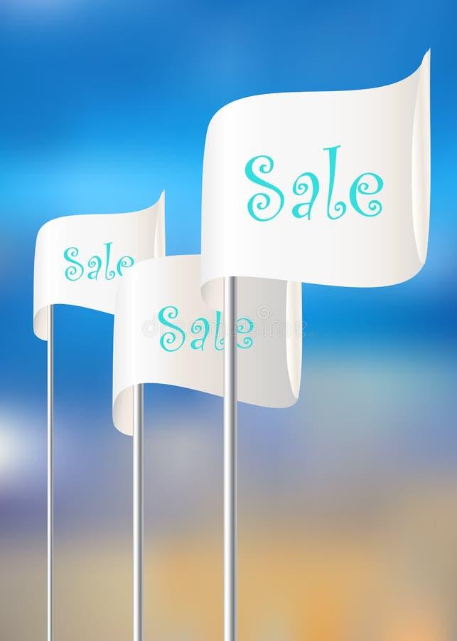 Bandeiras para ações das vendas ilustração stock