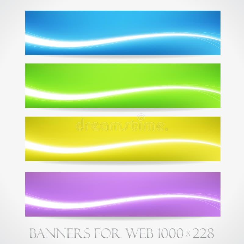 Bandeiras para a Web. (Vetor collection11) ilustração do vetor