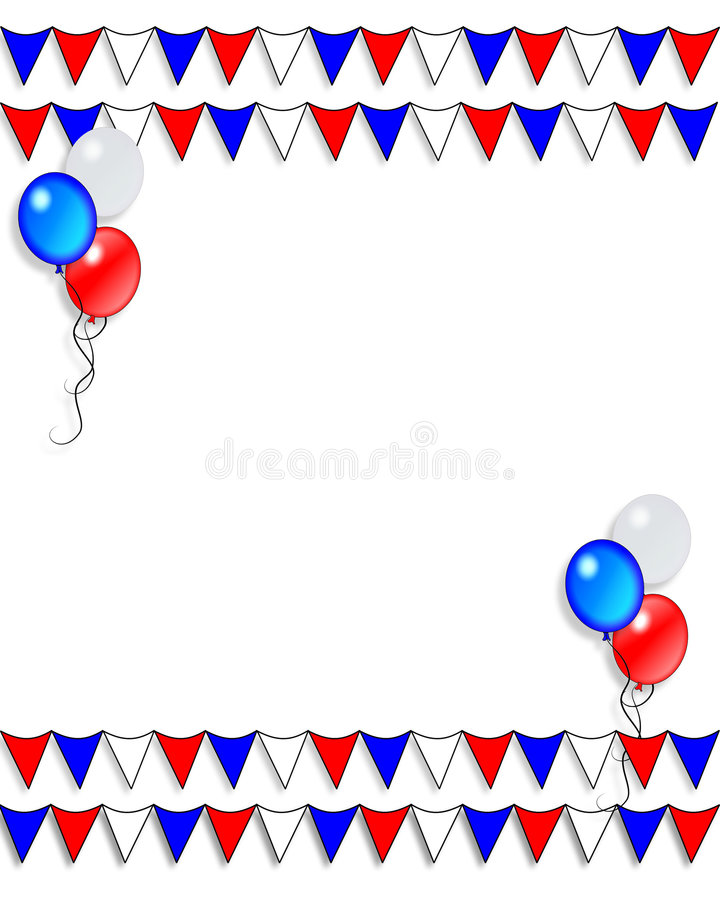 Bandeiras patrióticas da beira   ilustração royalty free