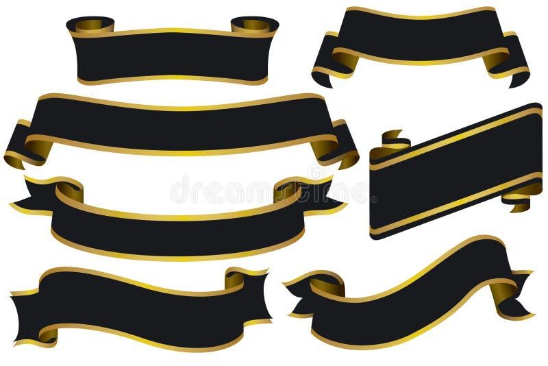 Bandeiras pretas com ouro
