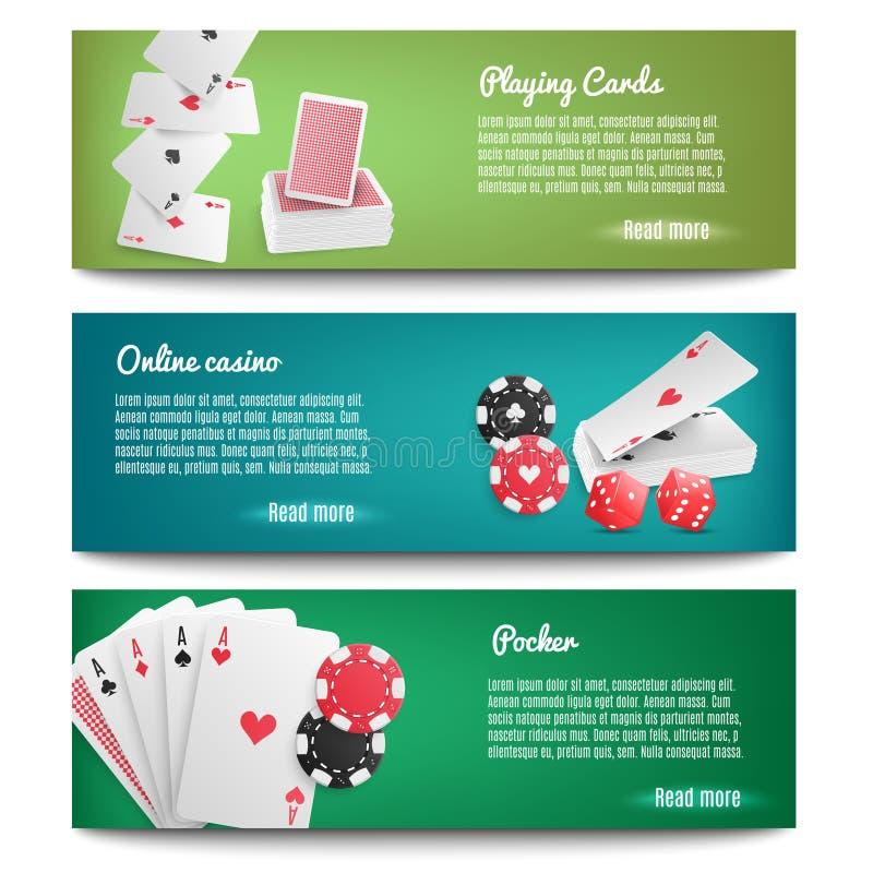 Bandeiras realísticas em linha do casino ilustração do vetor