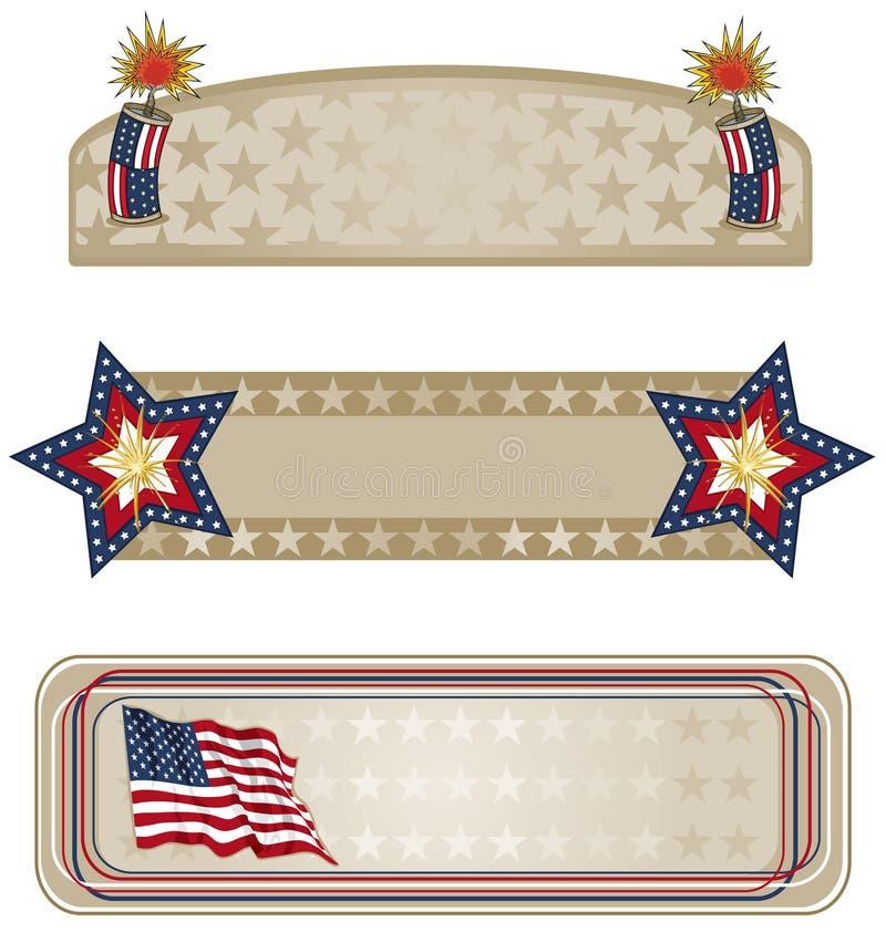 Bandeiras referentes à cultura norte-americana mais ilustração royalty free