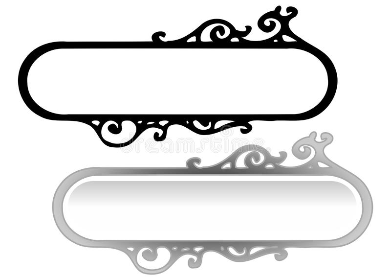 Bandeiras retros do vetor simples ilustração stock