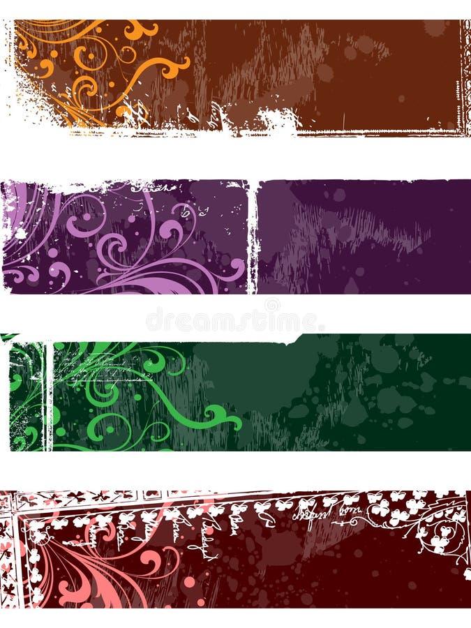 Bandeiras separadas ilustração stock