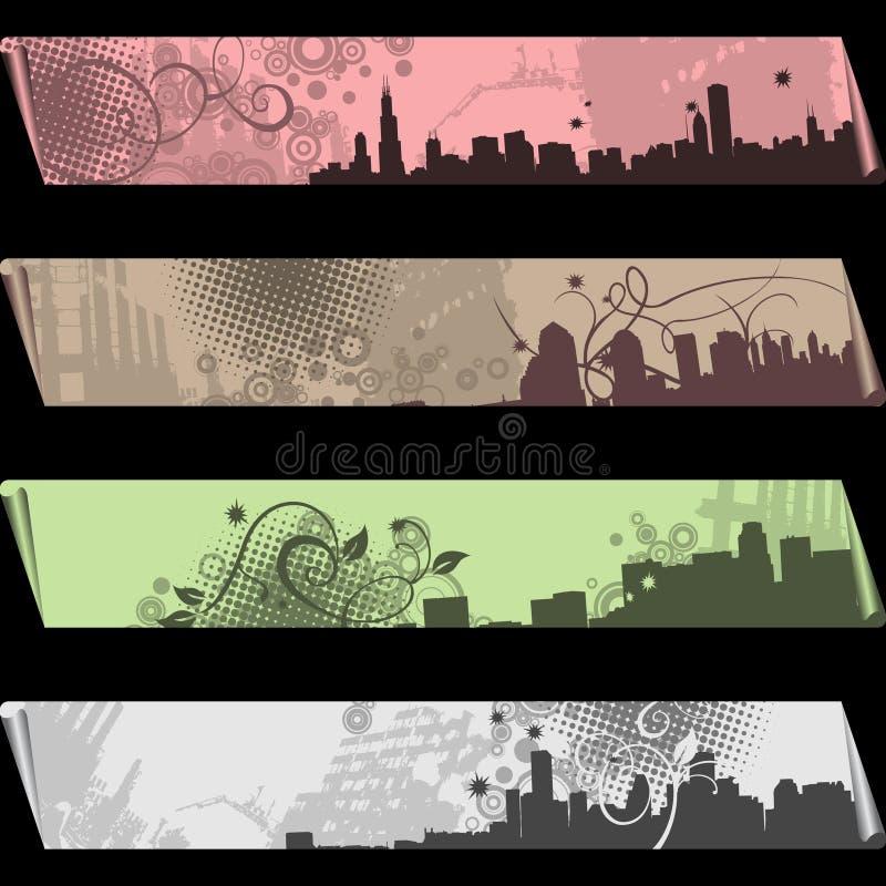 Bandeiras separadas ilustração royalty free