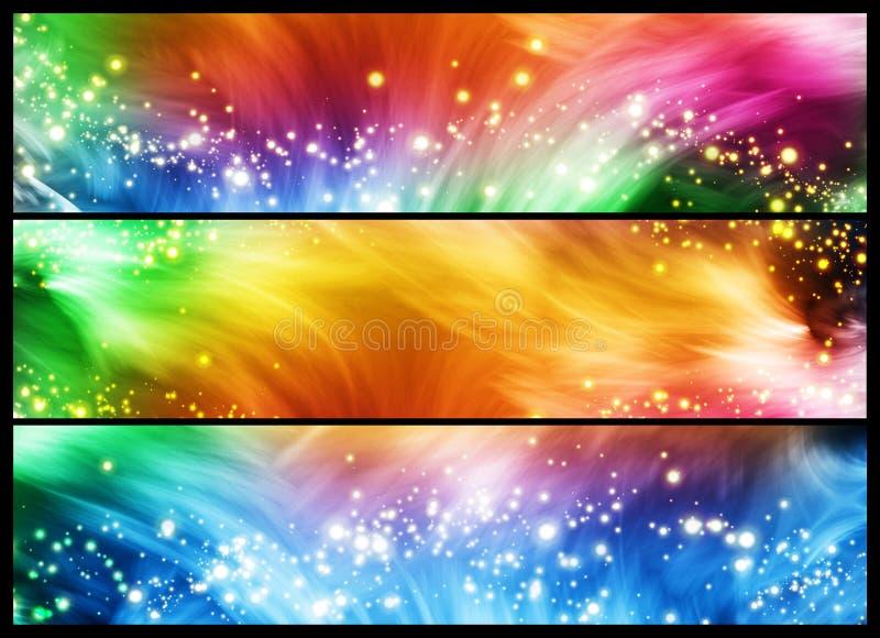 Bandeiras Sparkly ilustração stock