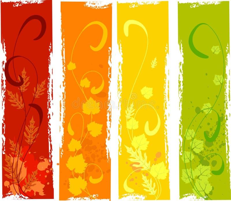 Bandeiras sujas do outono ilustração royalty free