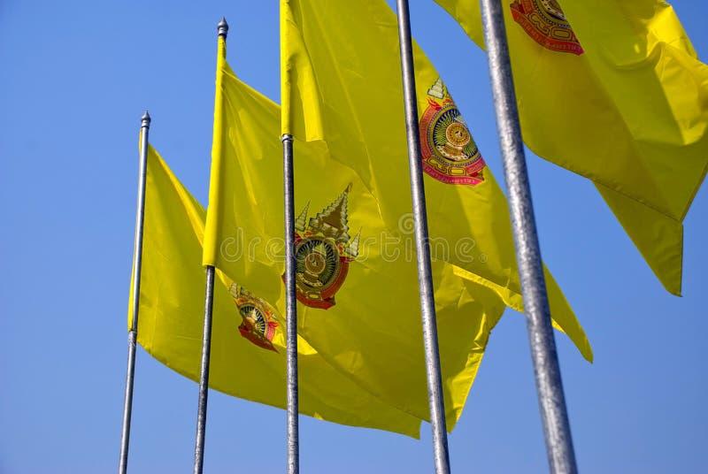 Bandeiras tailandesas imagens de stock