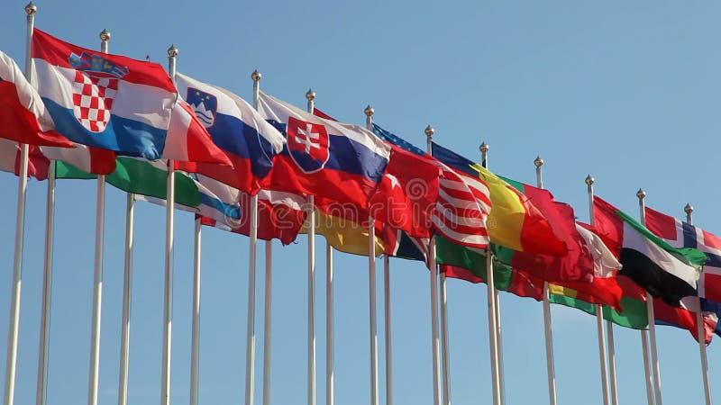 Bandeiras unidas video estoque
