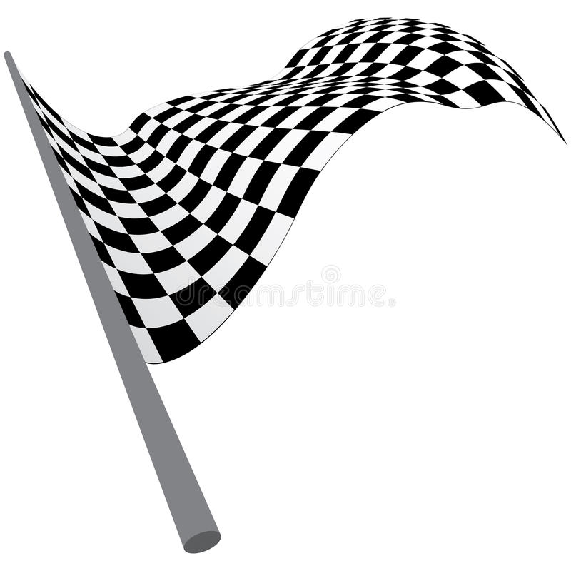 Bandeiras verific ilustração do vetor