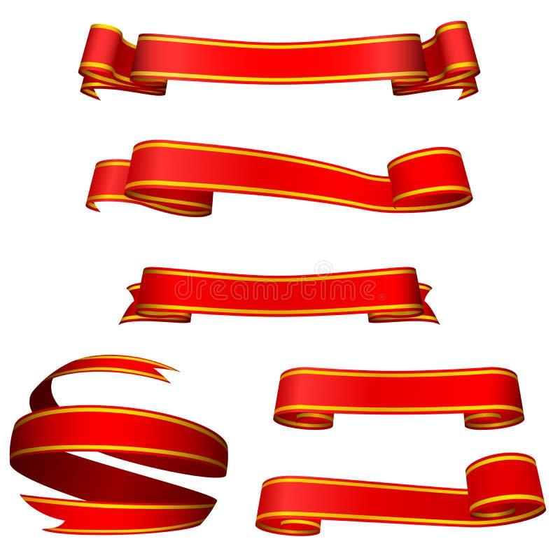 Bandeiras vermelhas ilustração stock