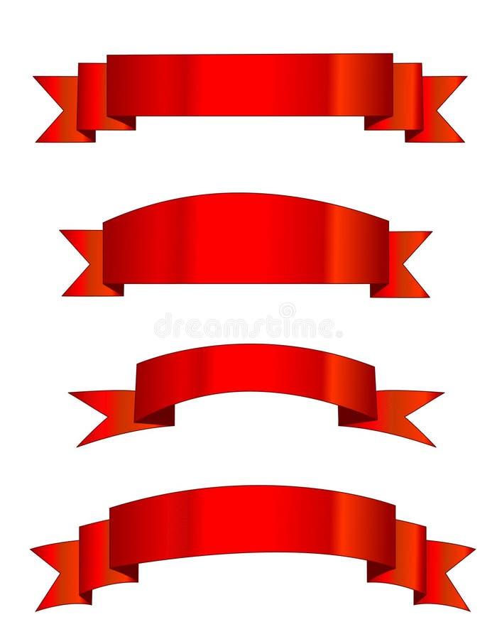 Bandeiras vermelhas/bandeira ilustração royalty free