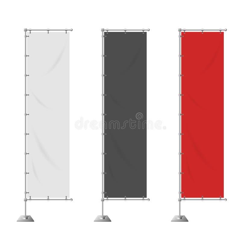 Bandeiras verticais vazias da propaganda ilustração do vetor