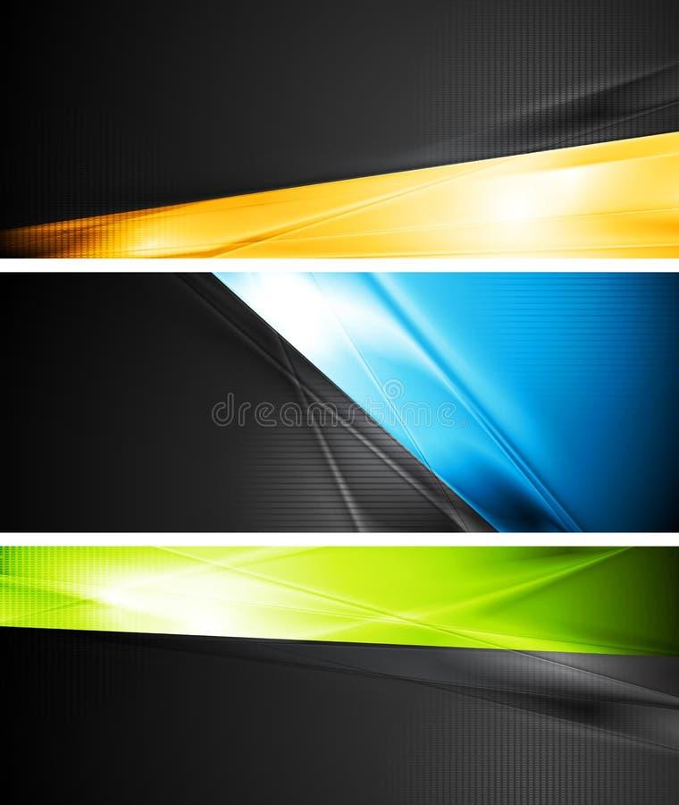 Bandeiras vibrantes do vetor ilustração do vetor