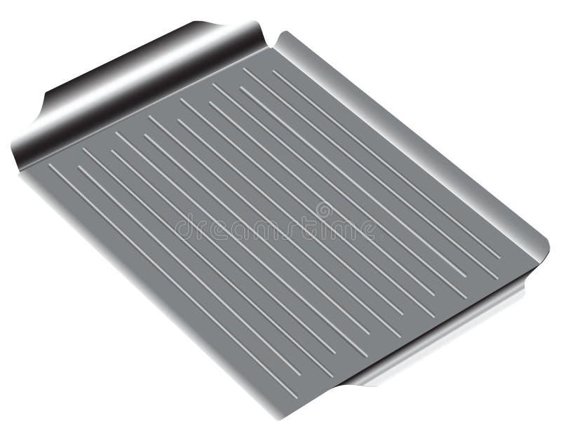 Bandeja com uma superfície ondulada ilustração stock