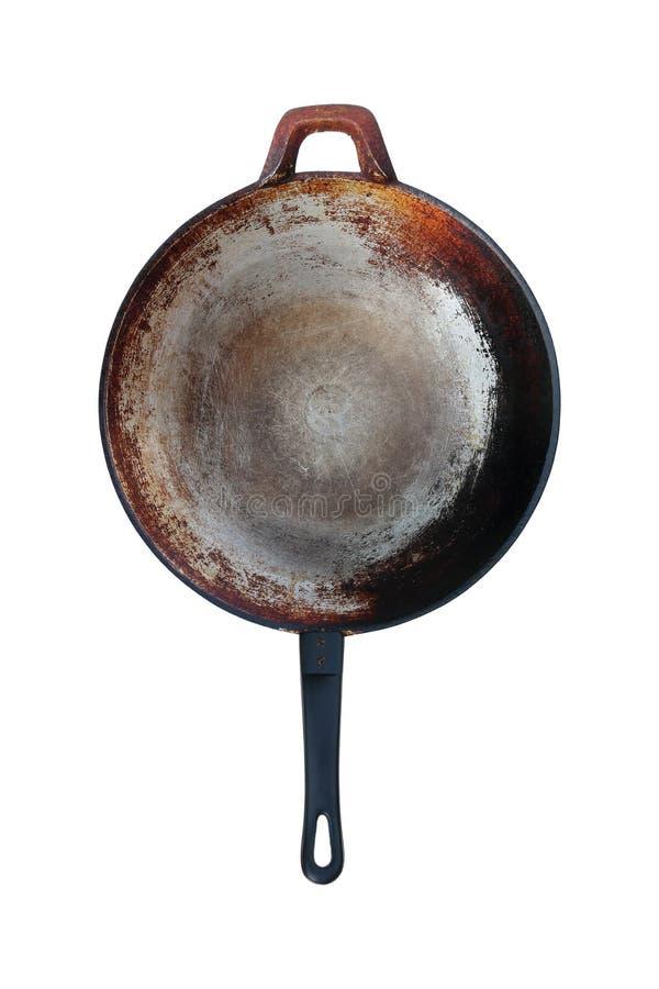 bandeja de aço inoxidável velha isolada no branco fotos de stock