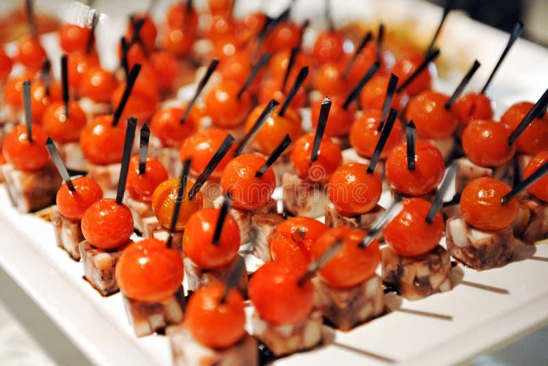 Bandeja de aperitivos coloridos foto de archivo