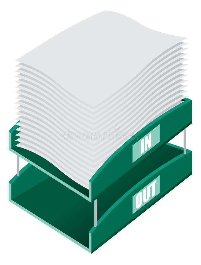 Bandeja de la clasificación de la oficina stock de ilustración
