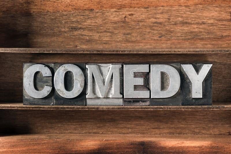 Bandeja de la palabra de la comedia fotografía de archivo libre de regalías