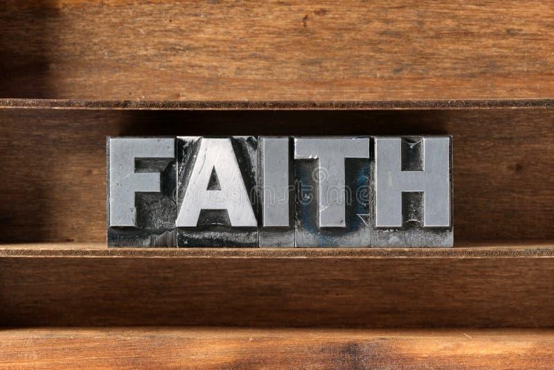 Bandeja de la palabra de la fe fotos de archivo libres de regalías